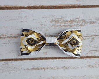 Black, White, and Gold Aztec Headband