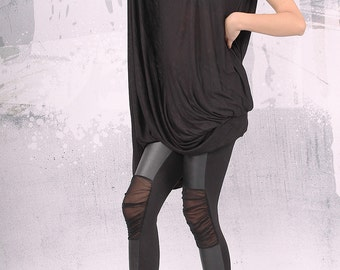 Dress / Plus size dress / Tunic dress / Asymmetric dress / Loose dress by FancyProject - UM-FL001-FL