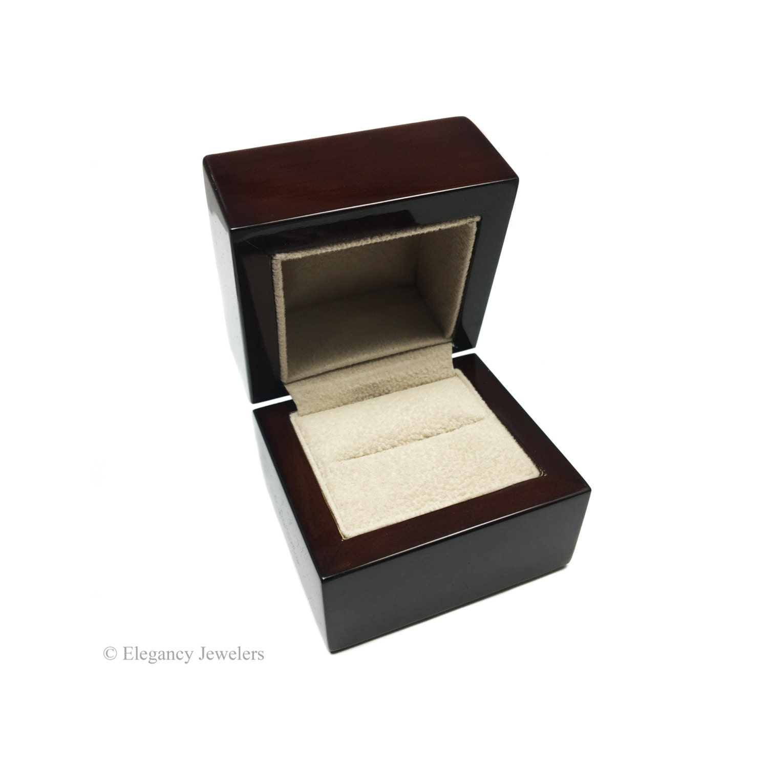 Kona wood finish engagement ring box ring box jewelry gift for Kona wedding rings
