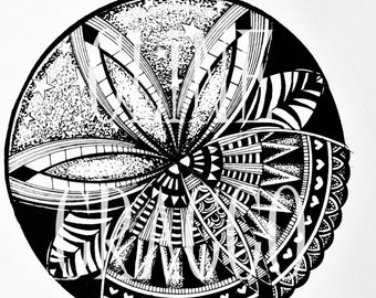 SUNSET MANDALA PDF (original illustration for coloring)