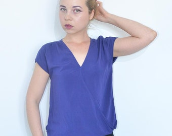 Vintage Swedish design blue top