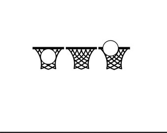 basketball net monogram frames svg dxf file instant download silhouette cameo cricut clip art