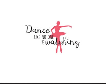 dance like no one is watching svg dxf file instant download silhouette cameo cricut clip art commercial use