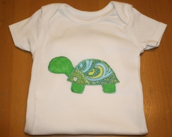 Appliqúed Turtle Onesie