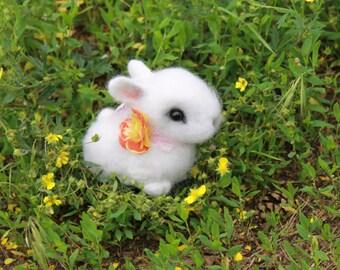 Little white rabbit - Needle Felted Rabbit