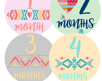 Baby Month Stickers Monthly Baby Stickers Monthly Bodysuit Sticker Milestone Stickers Girl Month Stickers Baby Boy Month Stickers