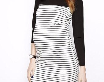 Stripe a Pose Matenirty Dress