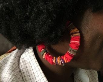 Home-made earrings