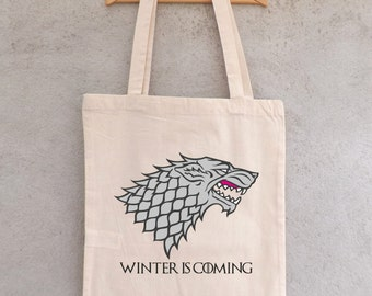 """Tote Bag """"Winter is Coming"""" - shopping bag"""