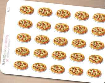 Pizza Planner Stickers Perfect for Erin Condren, Kikki K, Filofax and all other Planners