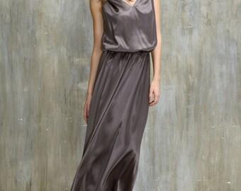Pure silk evening dress