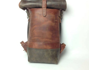 Mens backpack, leather backpack, laptop backpack, womens backpack, hipster backpack, backpack purse, travel backpack, duffle bag purse