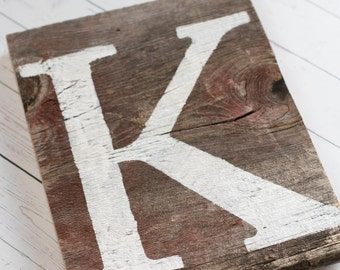 Rustic barn wood letter sign. Name sign. Initial signs. Barn wood initial sign. Farmhouse. Gallery wall sign. Nursery sign. Cabin.