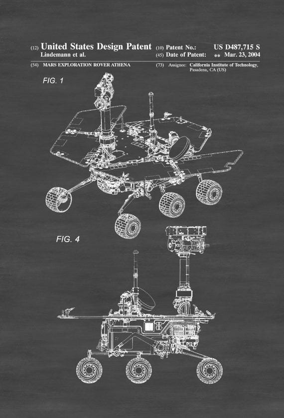Mars Exploration Rover Patent Space Art Space Poster Mars