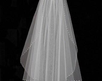Rhinestone Edge Wedding Veil