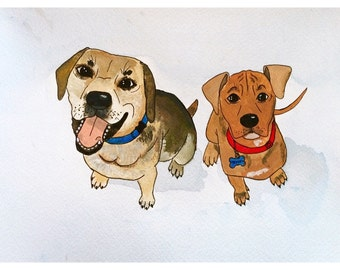 Custom Pet Portrait - Acrylic Paint