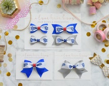 Los Angeles Dodgers Hair bows, Hair bow clips, Dodgers Bows, Gift for Dodgers fan, Bow Tie Bows, Cheer Bows, Boutique Bows, MLB bows,