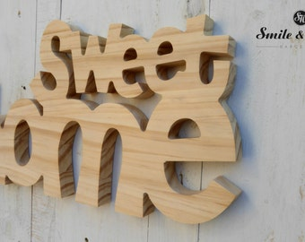 SWEET HOME wooden sign