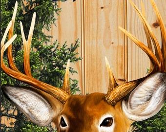 Big Deer Buck Woods Cornhole Wrap Bag Toss Decal Baggo Skin Sticker Wraps