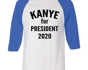 Baseball T Shirt | Kanye 2020 | Kanye for President | Kanye West Tshirts | Yeezus Shirt Tour | Hip Hop T Shirt Kanye | Raglan Top | R405