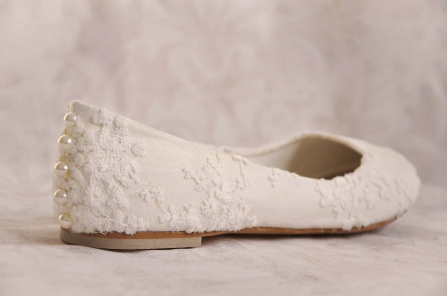flat lace bridal shoes - photo #13