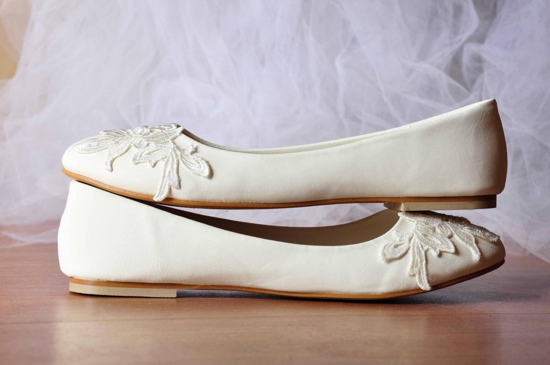 White Wedding Flats White Flat Shoes By Gorgeousweddingshoes