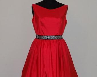 Red dress, silk, taffeta gown, ball gown, evening dress, cocktail dresses and party, wedding dress,