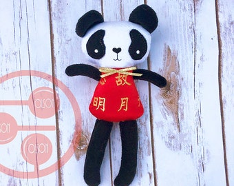 Handmade Stuffed Panda- FREE USA shipping
