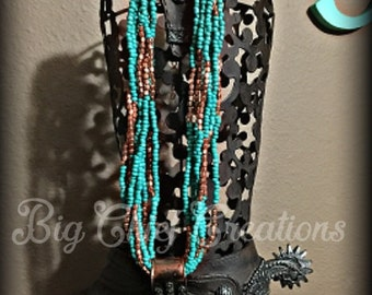 Turquoise Bronze Necklace