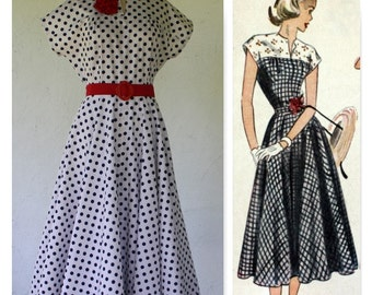 1950's Reproduction Cotton Dress, Rockabilly