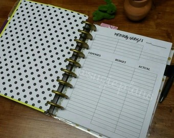 Happy Planner Monthly Budget Insert