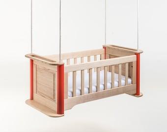 "hanging cradle ""swing"" - hardwood hanging cradle"