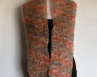 Women's Soft Mohair Knitted Infinity Scarf