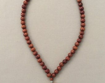 Shell Necklace with Tiger Nautilus and Koa Beads