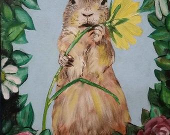 Prairie Dog w/ Flower