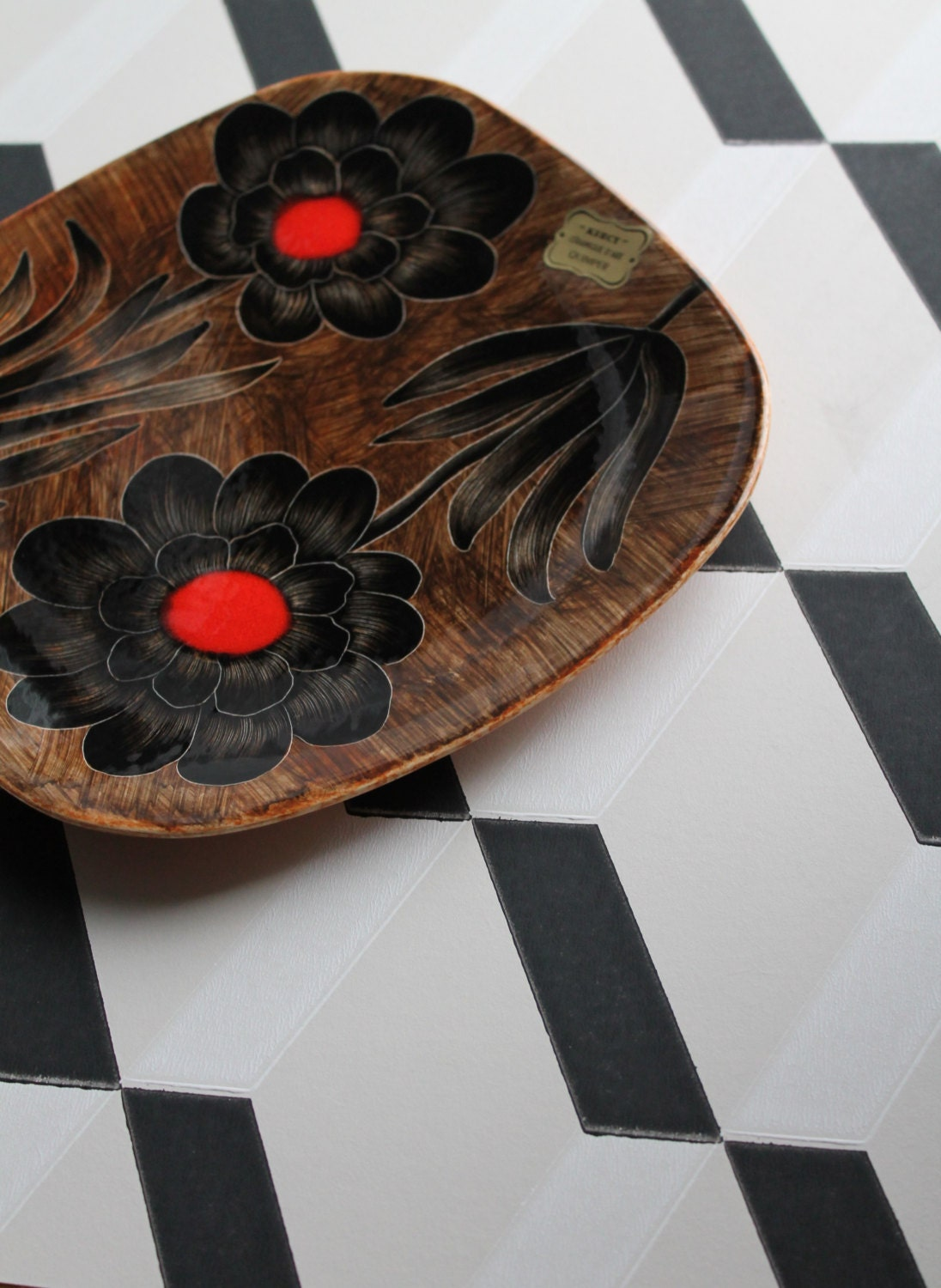 Decorative vintage plate from simone carri kercy for Deco quimper