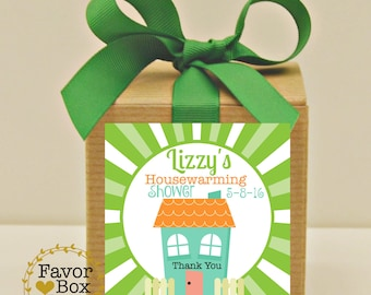 Favor Box, Housewarming Shower Favors, Bridal Shower Favor, New Home, Personalized Favor, Goodie Box, Party Favor, Candy Box, Thank You Gift