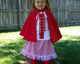 Little Red Riding Hood Costume, Storybook Outfit, Halloween Costume, Little Red Riding Hood Set, Little Riding Hood Dress-Up