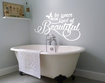 Beautiful Wall Decal Etsy - Custom vinyl wall decals sayings for bathroom