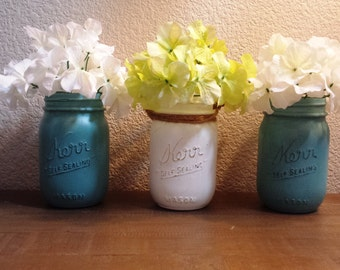 Rustic Mason Jars - Set of 3