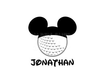 Personalized Golf Ball Decal / Sports Hat Family Matching Dad Grandpa Vacation Cap Ears Trip Mickey Mouse Disney Iron On Vinyl for Shirt 122