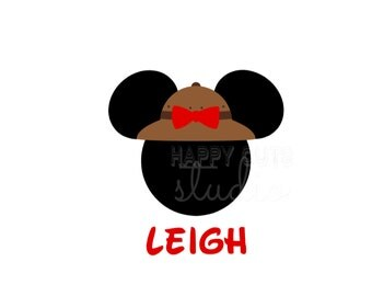 Personalized Safari Hat Disney Vacation Matching Family Mom Animal Kingdom Minnie Mouse with Bow Disney Iron On Decal Vinyl for Shirt 059