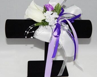 White & Purple Corsage