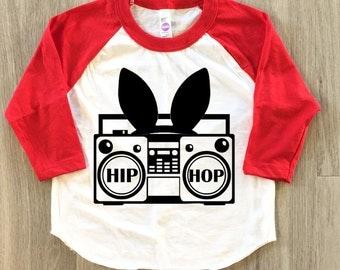 Hip Hop Boom Box Easter shirt - baby boy or girl clothes toddler shirt