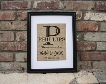 1st Anniversary Gift For Couple Personalized Anniversary Gift Personalized Wedding Gifts For Couple 59 Year Anniversary Gift Custom Burlap