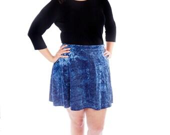 Blue Velvet skater skirt SALE