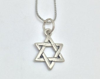 Star of David Vintage Silver 925 Charm, Item 29- Free Shipping within USA