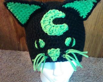Green and Black Halloween Cat