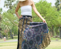 Women's Yoga Mandala Hippy Skirt and Dress in One - Festival Gypsy Skirt Hippie Skirt Bohemian Vintage Skirt Maxi Skirt Boho Summer Beach