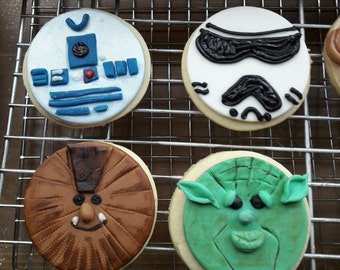 Star wars theme cookies/cupcake toppers